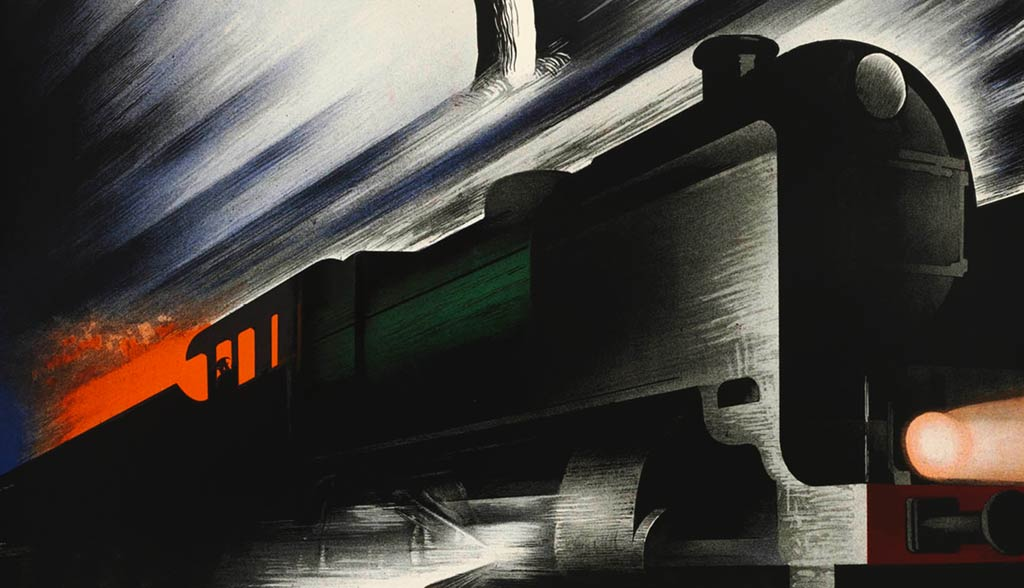 Poster winter on the rails, 1938 | Kees van der Laan (Spoorwegmuseum Utrecht)