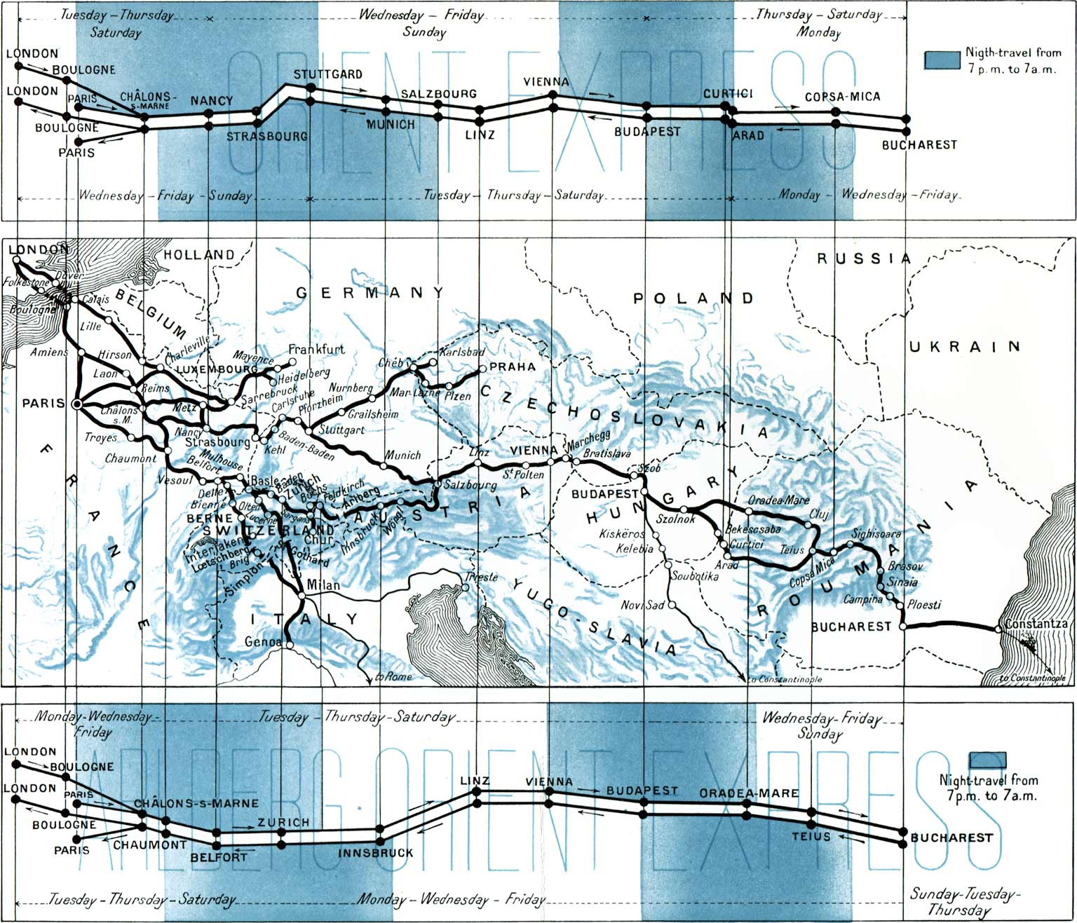 Along straight lines schematic railway maps retours