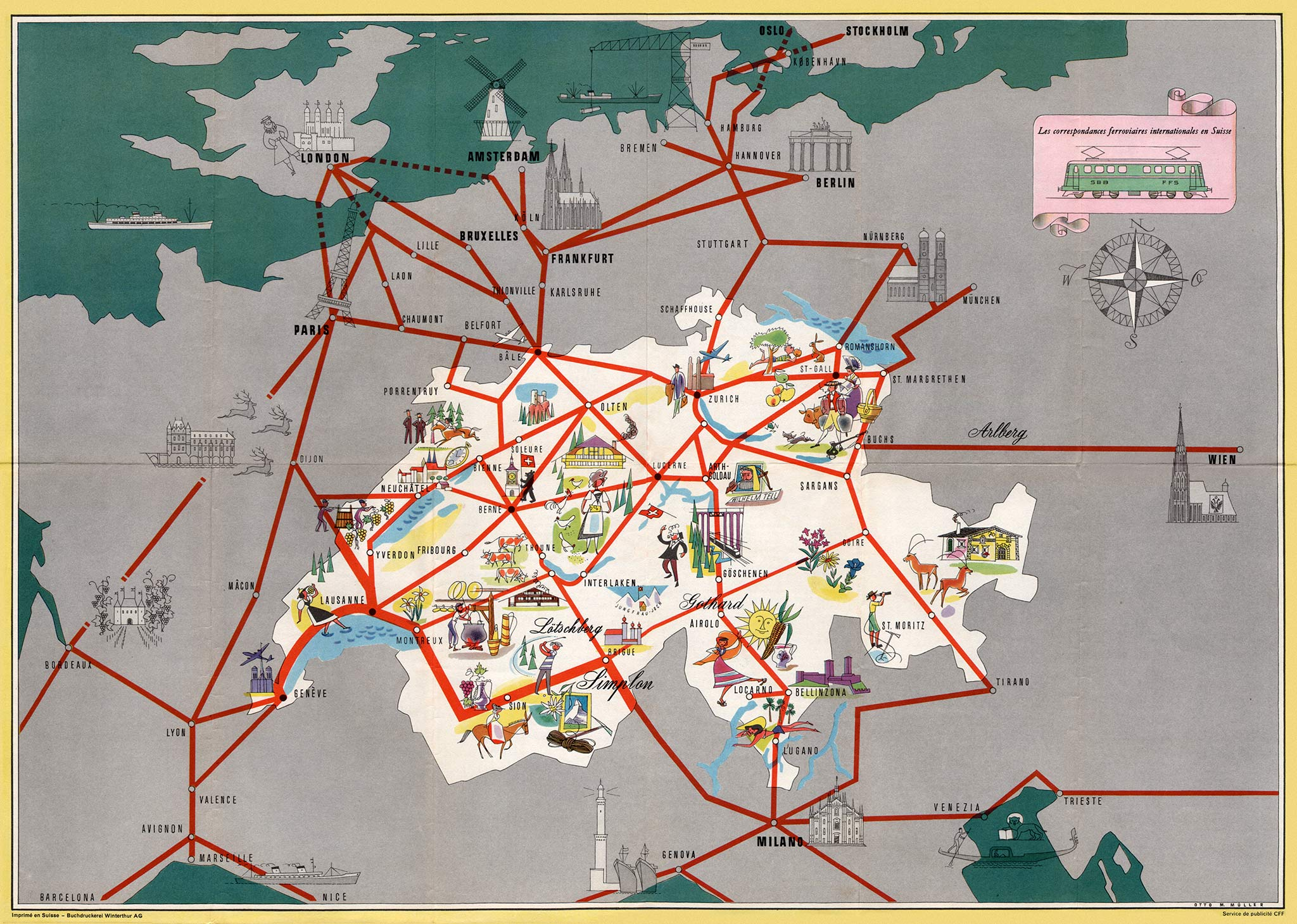Pictorial railway maps telling stories retours
