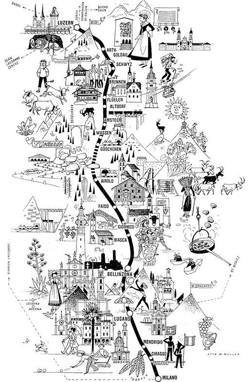 Pictorial railway maps telling stories retours