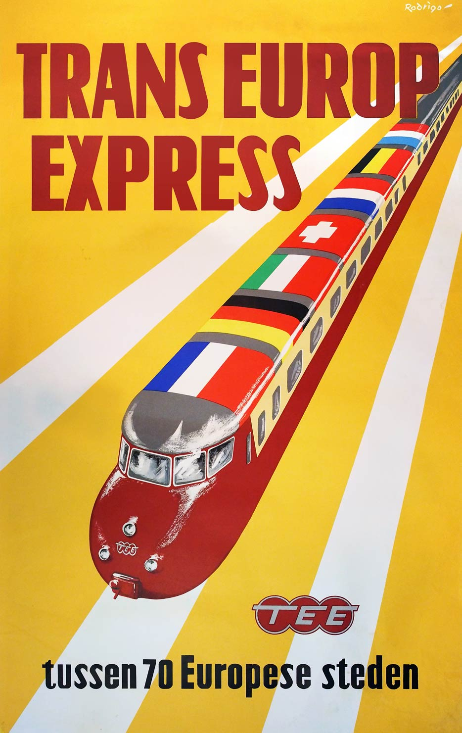 TEE Design, railcars on Trans Europ Express posters | retours