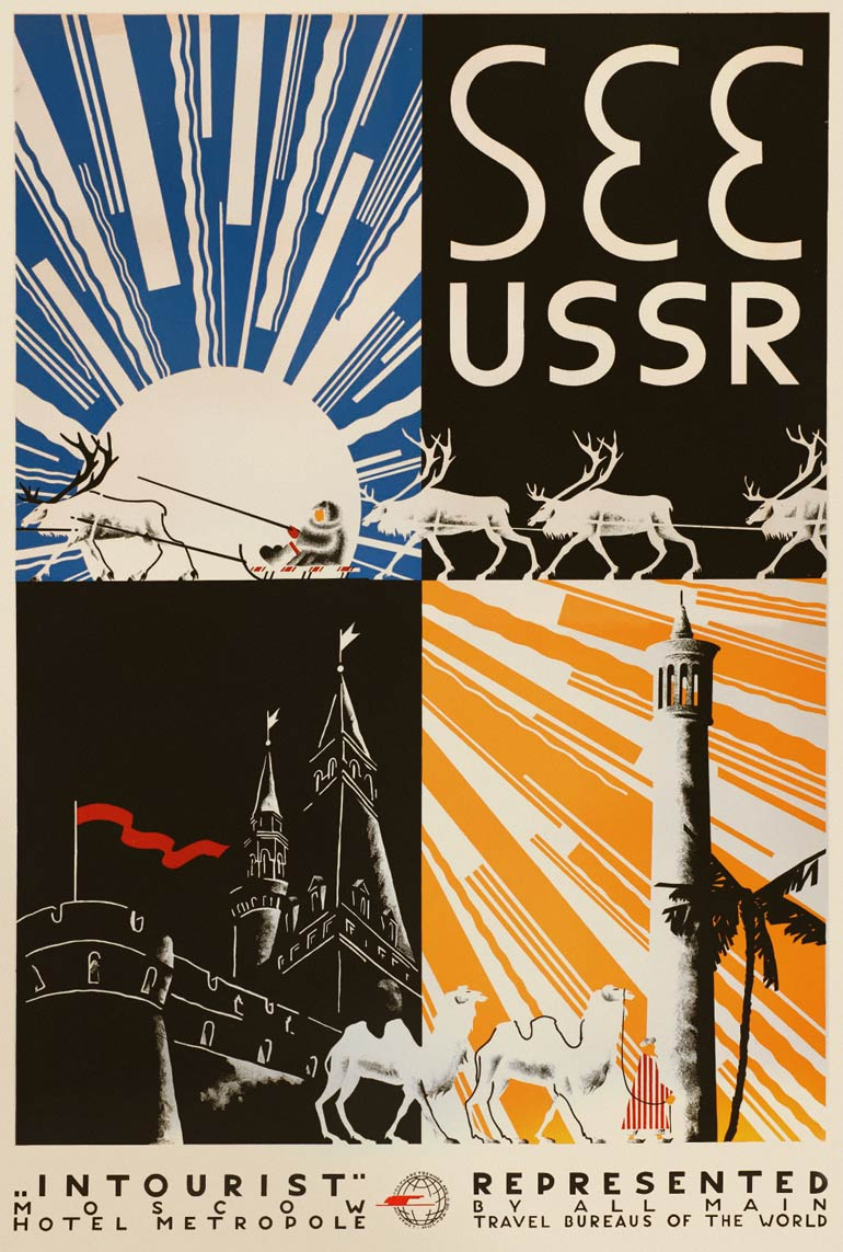 Perfect Intourist posters from the Soviet era | retours IG39
