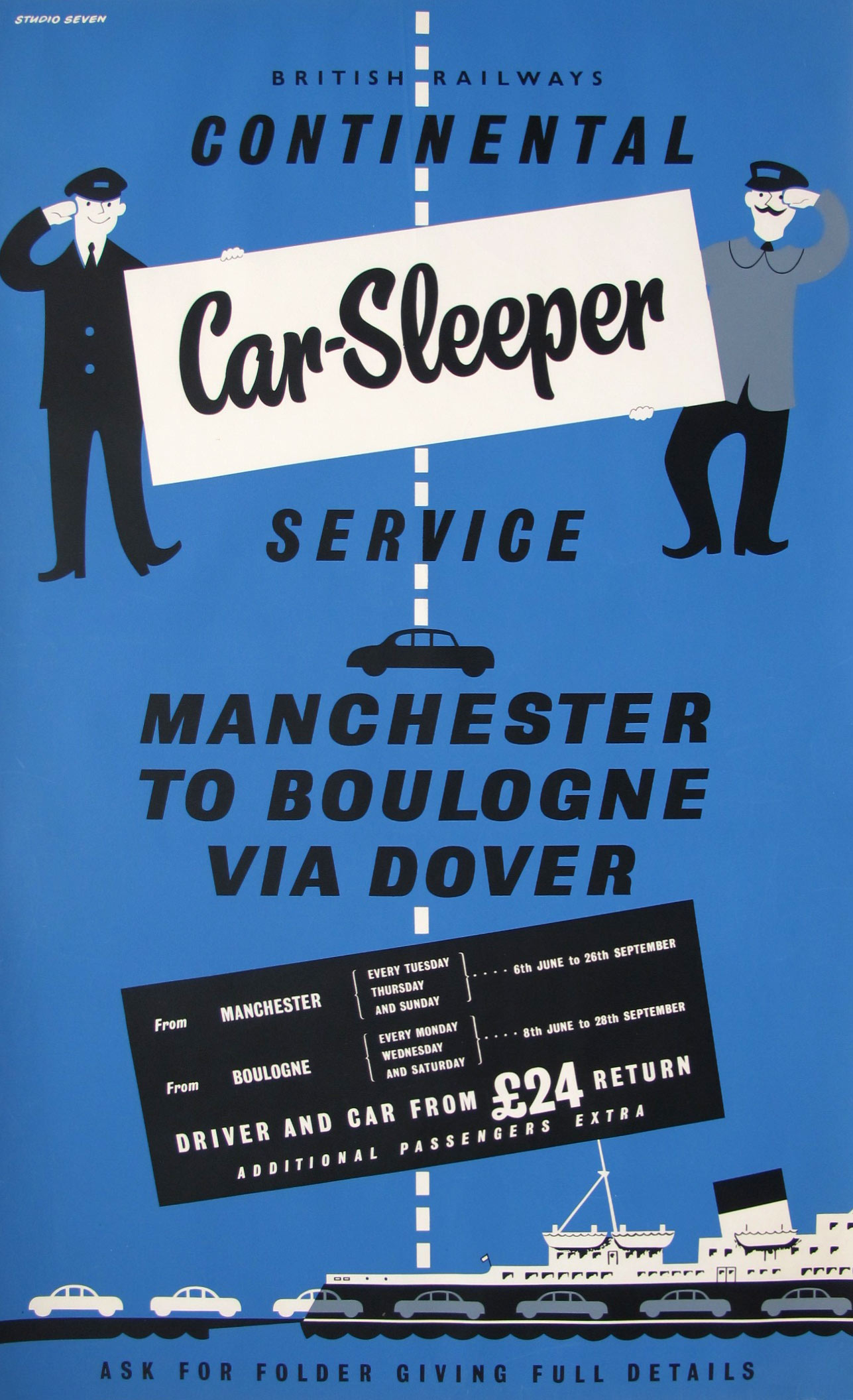 Posters for car sleeper expresses around 1960 | retours