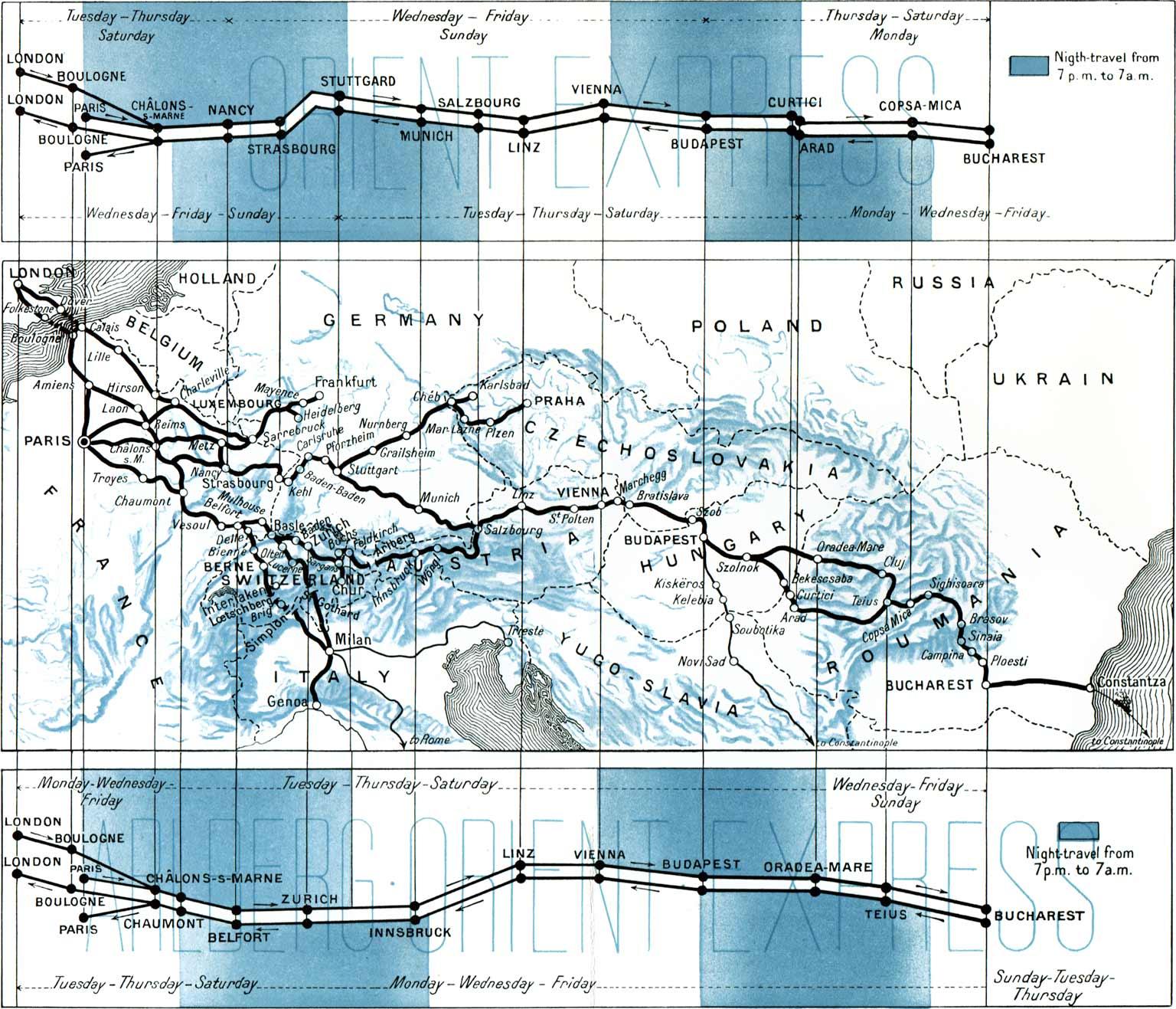 Along straight lines: schematic railway maps | retours