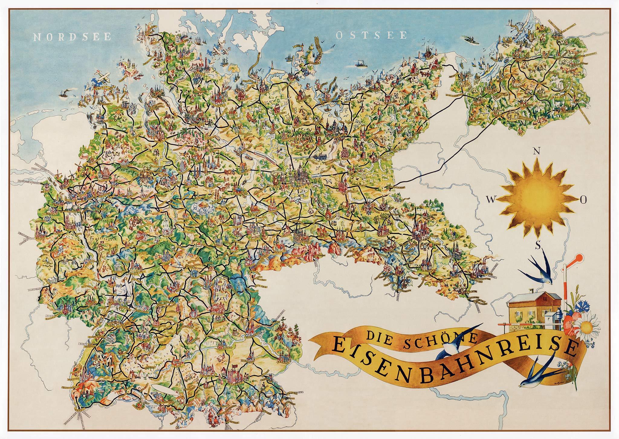 Giethoorn Karte.Pictorial Railway Maps Telling Stories Retours
